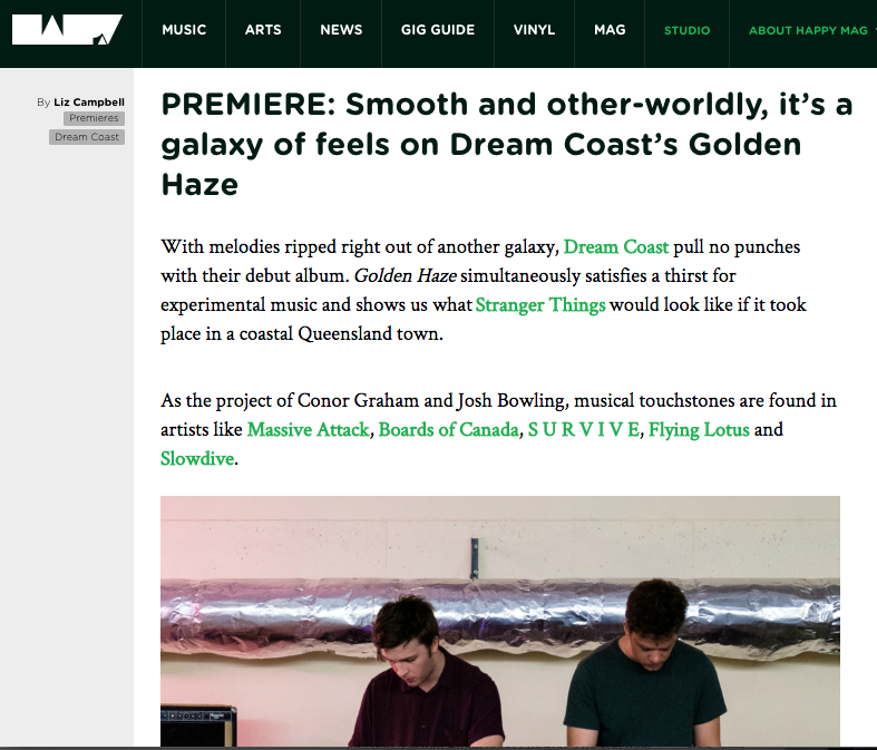 Dream Coast, Happy Mag, review, Golden Haze, album